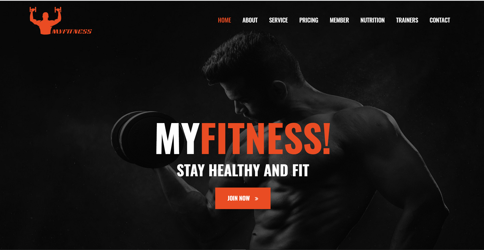 MyFitness - Gym Landing Page Template