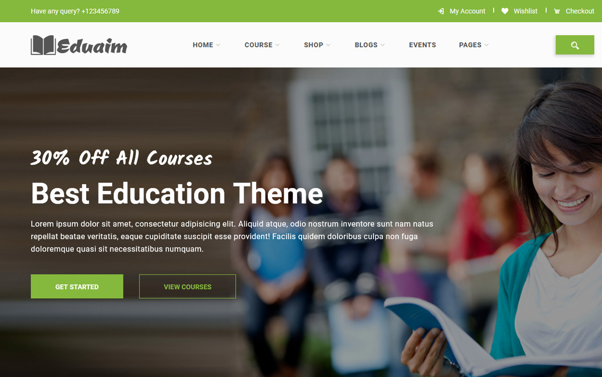 Bootstrap Eduaim - Education Weboldal sablon 100528