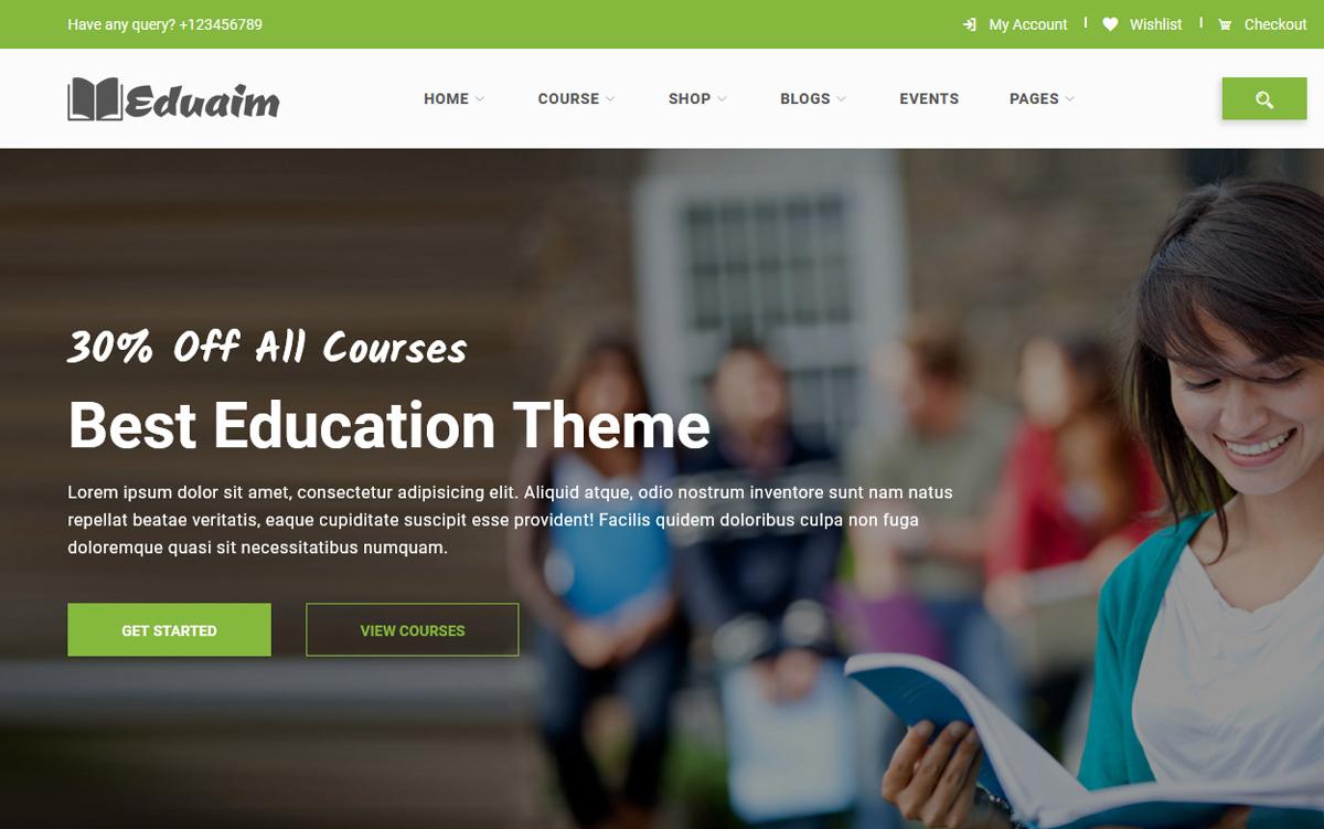 """""""Eduaim - Education"""" modèle web Bootstrap #100528"""