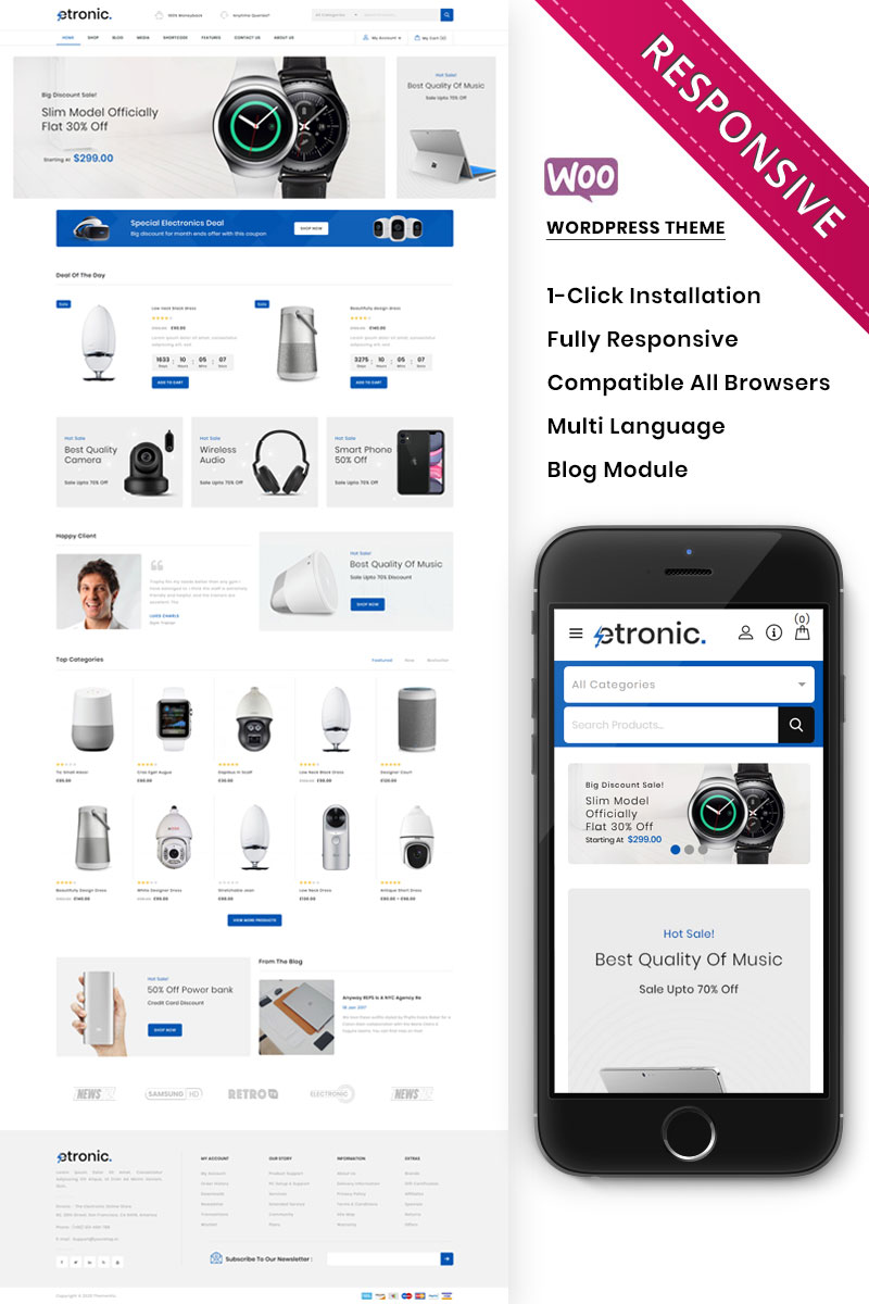 Etronic - The Mega Electronic Store WooCommerce Theme