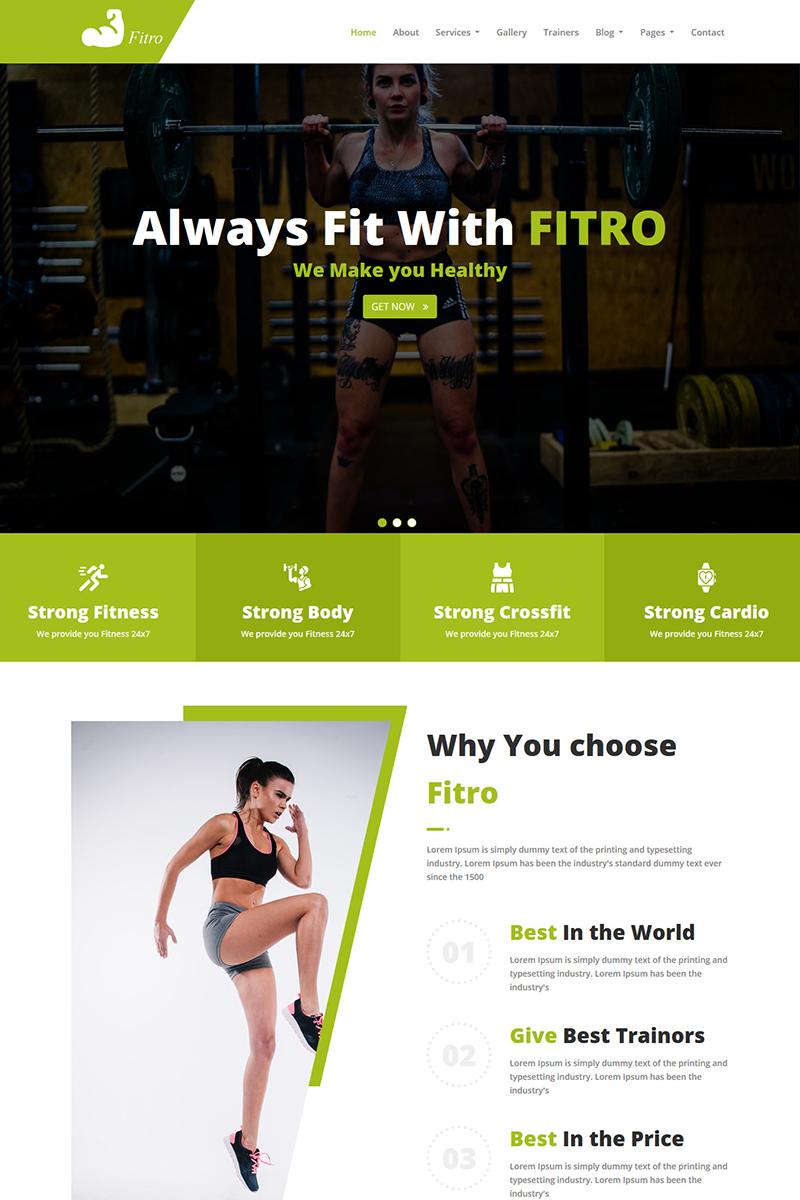 Fitro - Fitness HTML5 Website Template