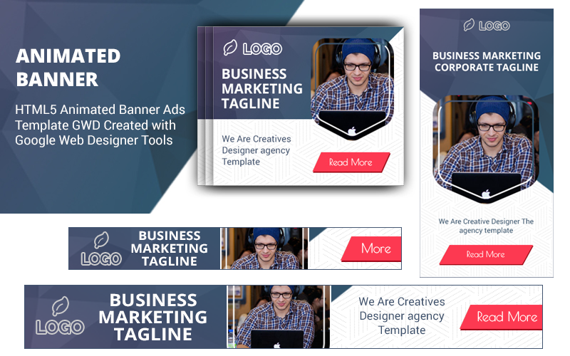 """""""HTML5 Ad Templates V1"""" Animated Banner №100549"""