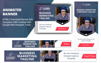 HTML5 Ad Templates V1 Animated Banner