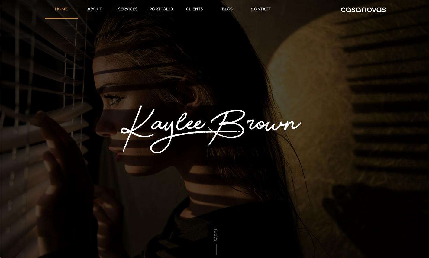 Kaylee - Personal Portfolio Website Template