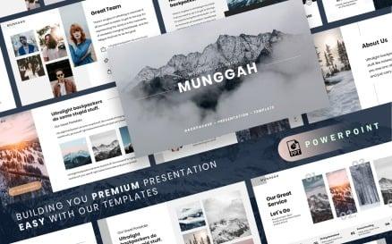 MUNGGAH - Outdoor Presentation PowerPoint template PowerPoint Template