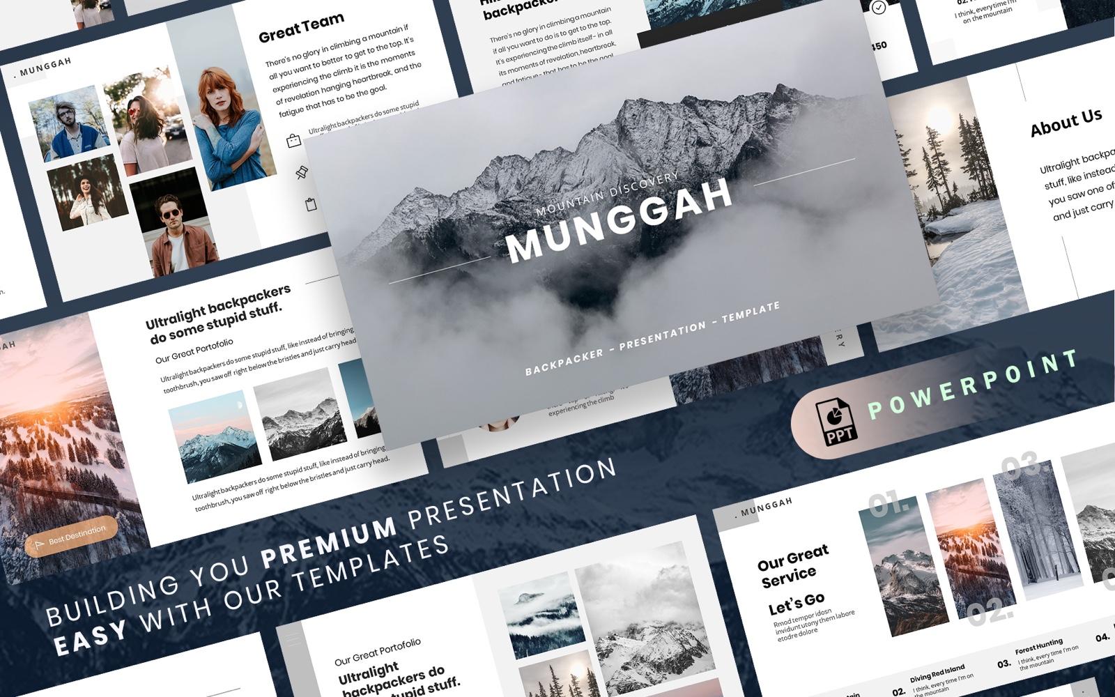 "Plantilla PowerPoint ""MUNGGAH - Outdoor Presentation"" #100535"