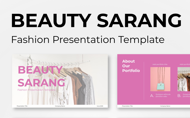 "PowerPoint Vorlage namens ""Beauty Sarang - Fashion"" #100536"