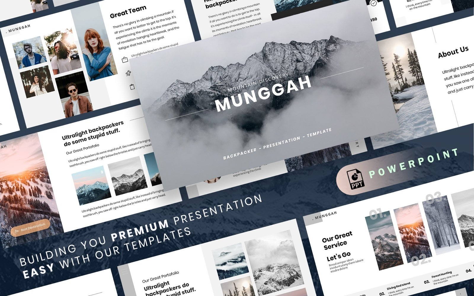 "PowerPoint Vorlage namens ""MUNGGAH - Outdoor Presentation"" #100535"