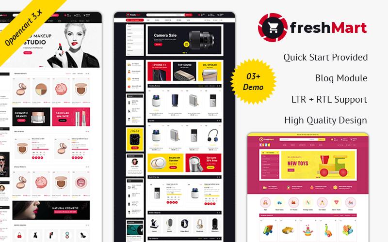 Reszponzív FreshMart-Multipurpose Responsive Theme OpenCart sablon 100520