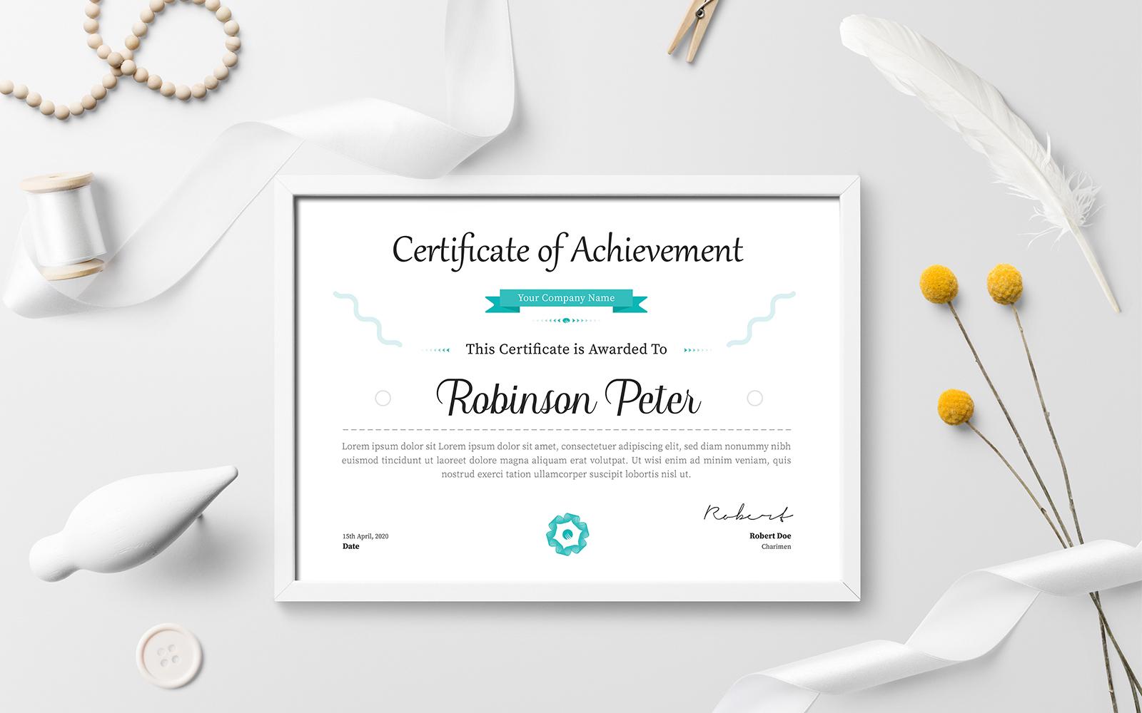 Robert Doe Certificate Template