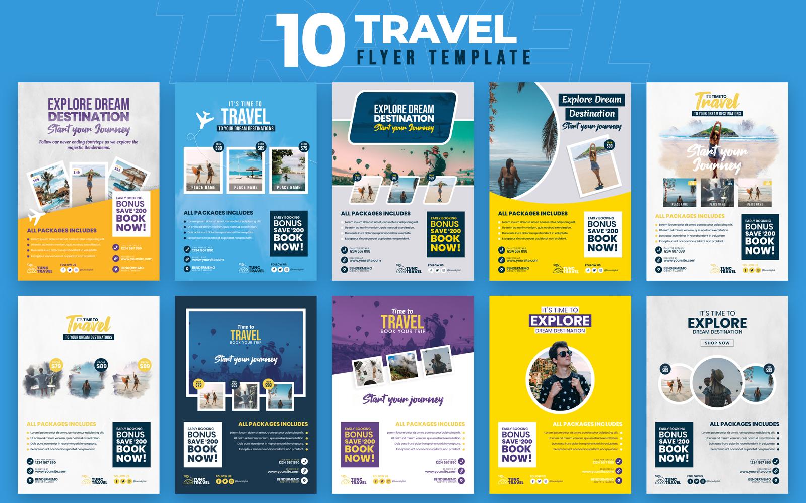 """Travel 10 Flyer Template"" - Bundle №100548"