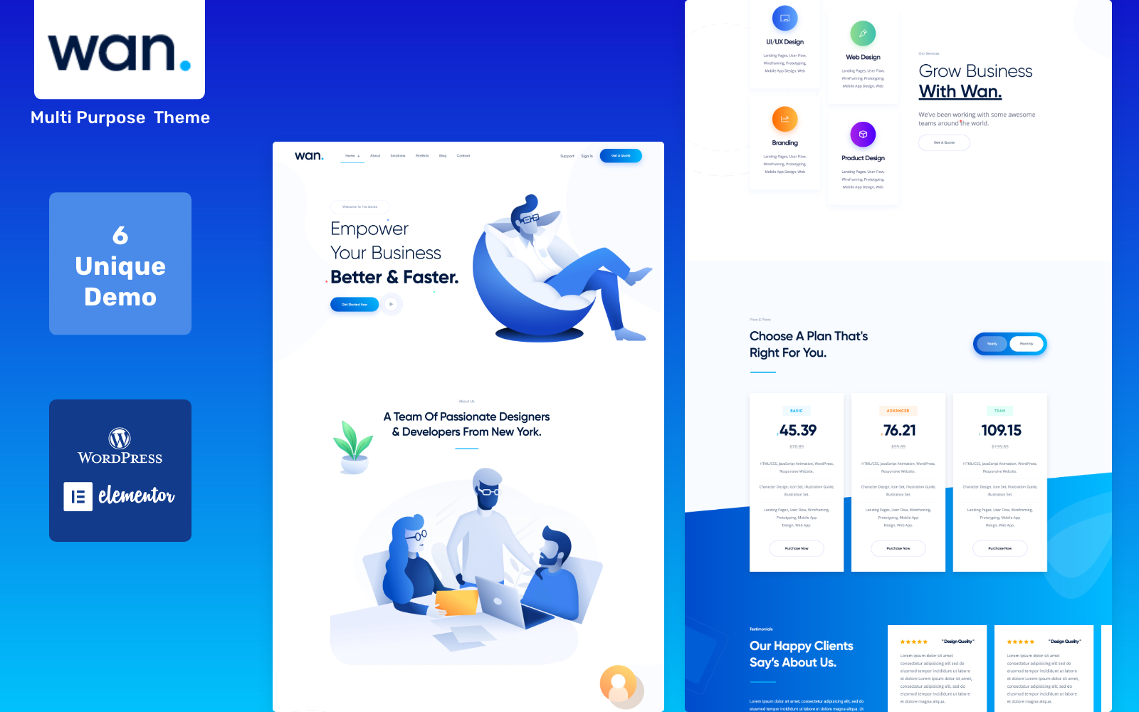 Wan - IT Software Service & Agency WordPress Theme