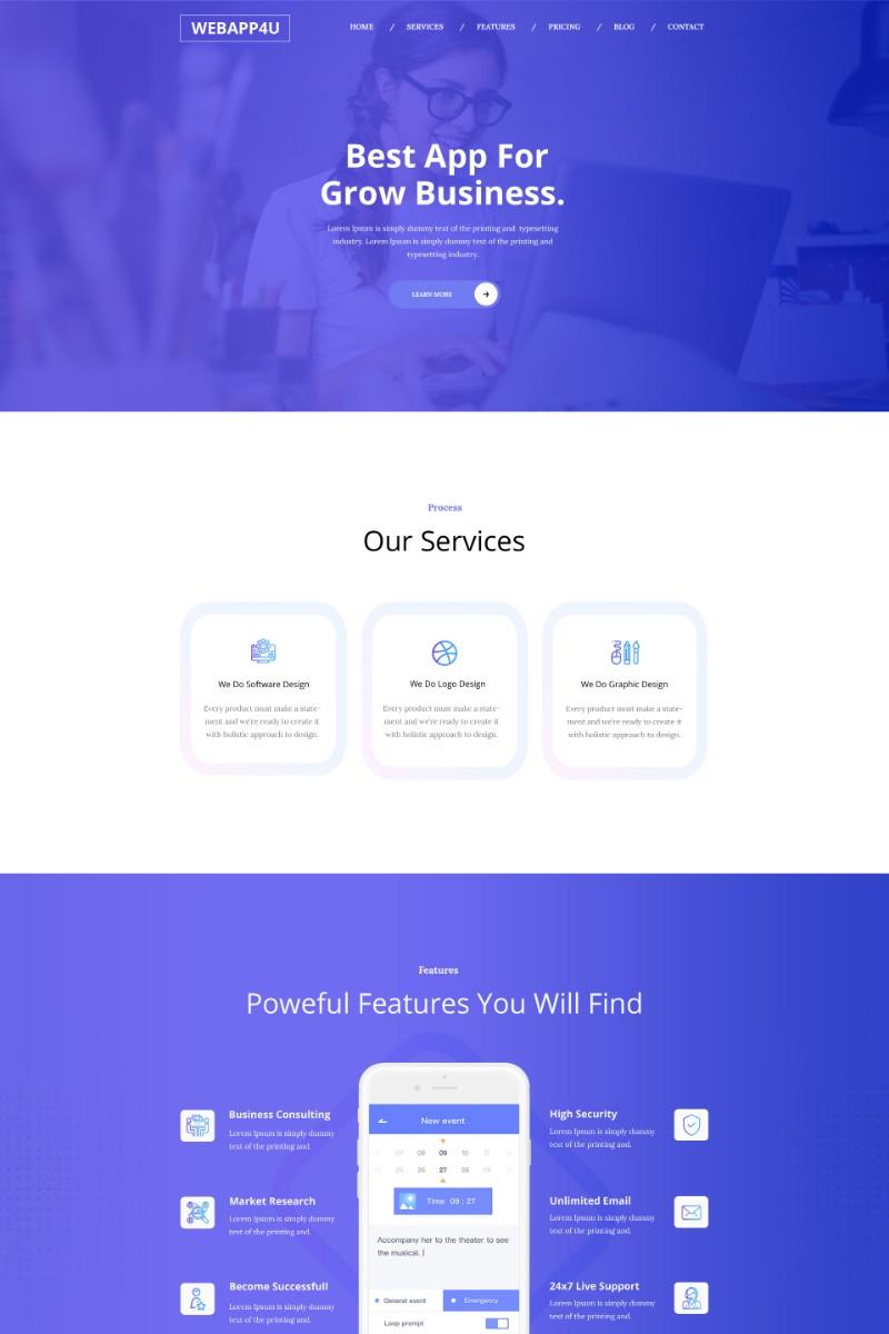 Webapp4u - App Landing Pages PSD PSD Template