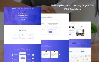 Webapp4u - App Landing Pages PSD Template
