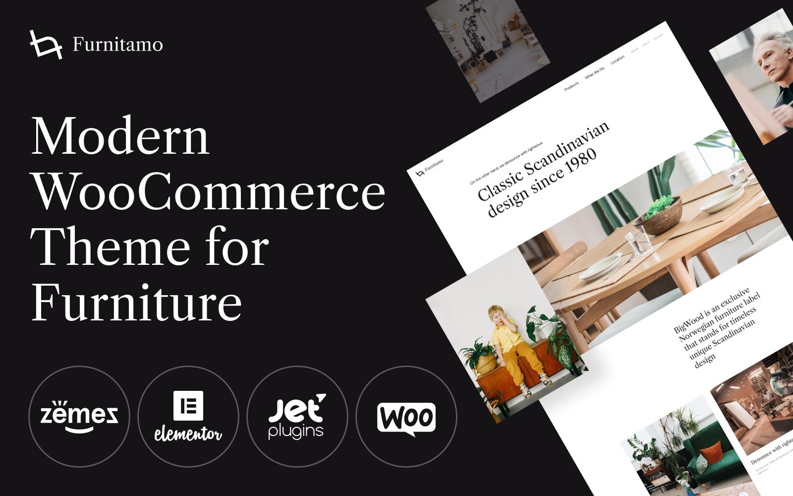 "WooCommerce Theme namens ""Furnitamo - WordPress Theme For Fabric Store"" #100530"
