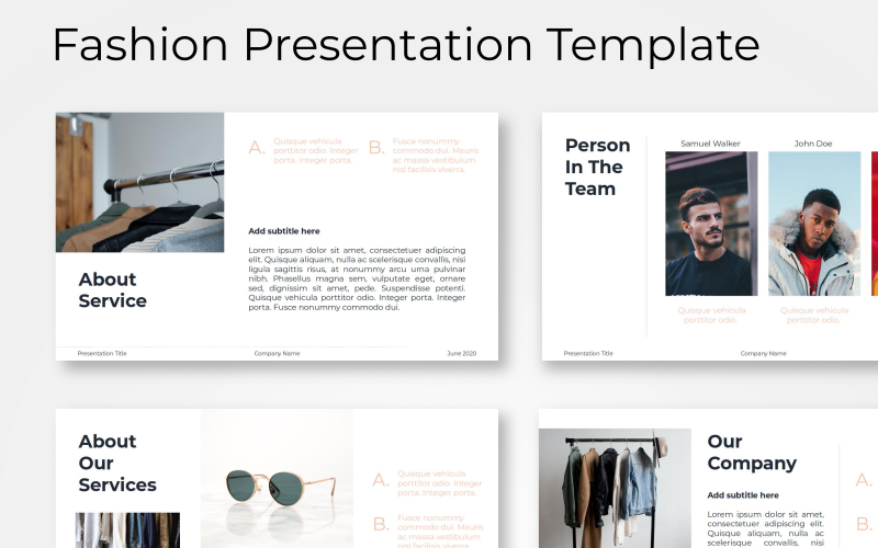 Monica - Fashion PowerPoint Template