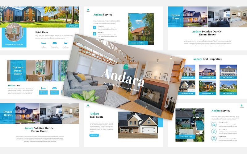 Andara - Real Estate PowerPoint Template