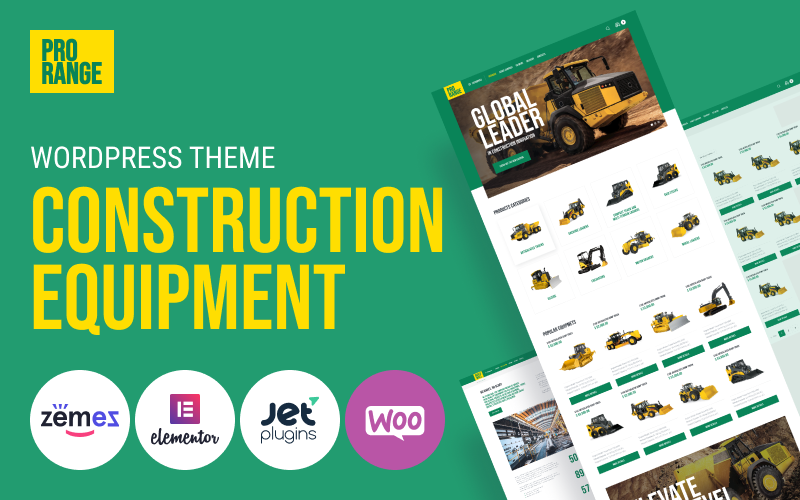 ProRange - Construction Equipment Tema WordPress №100632