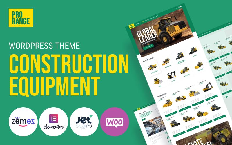 "Tema WordPress Responsive #100632 ""ProRange - Construction Equipment"""