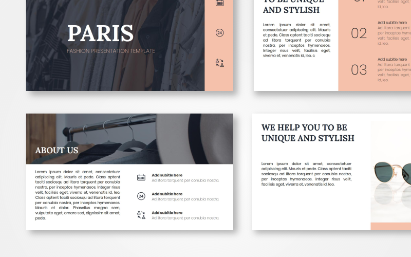 Paris - Fashion PowerPoint Template
