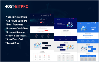 Hostbitpro- Multipurpose Hosting HTML & WHMCS Website Template