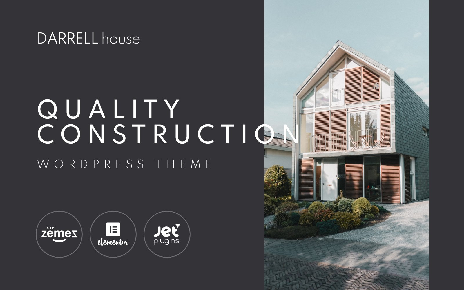 """Darrell house - Quality Construction"" Responsive WordPress thema №100706"