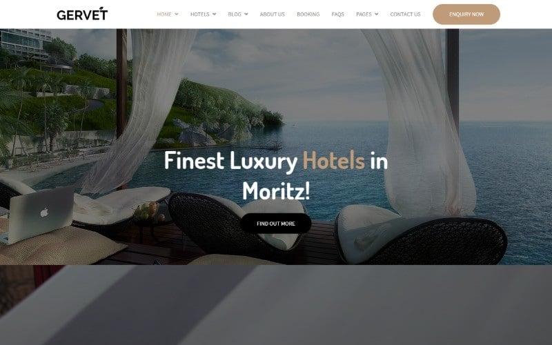 """Gervet - Hotel Booking"" - bootstrap Шаблон сайту №100739"