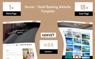 Gervet - Hotel Booking Website Template
