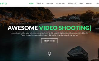 Kavli - Photography Landing Page Template