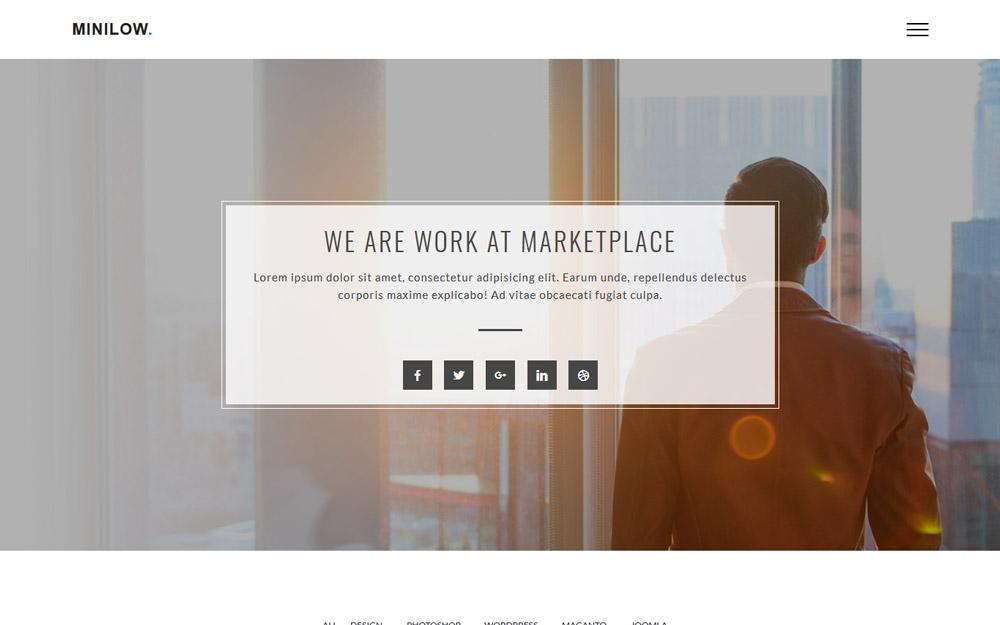 """Minilow Creative Portfolio"" Bootstrap Website template №100747"