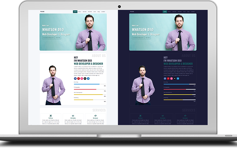 Psume - One Page Personal Portfolio & Resume HTML Website Template