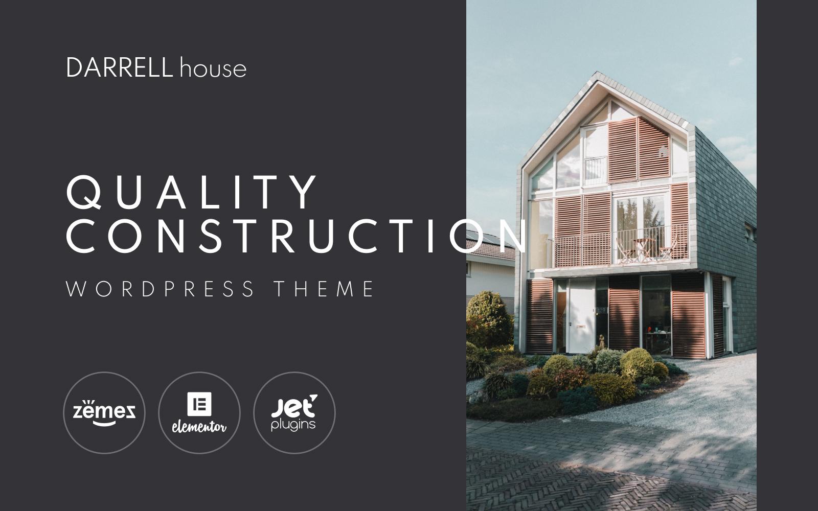 Responsivt Darrell house - Quality Construction WordPress-tema #100706