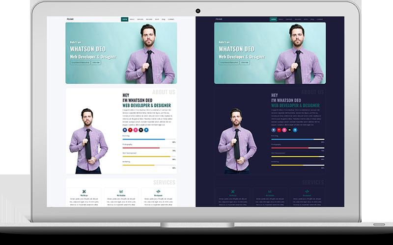 Responsywny szablon strony www Psume - One Page Personal Portfolio & Resume HTML #100703