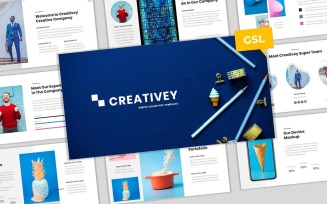Creativey - Simple Color Pop Business Google Slides Template