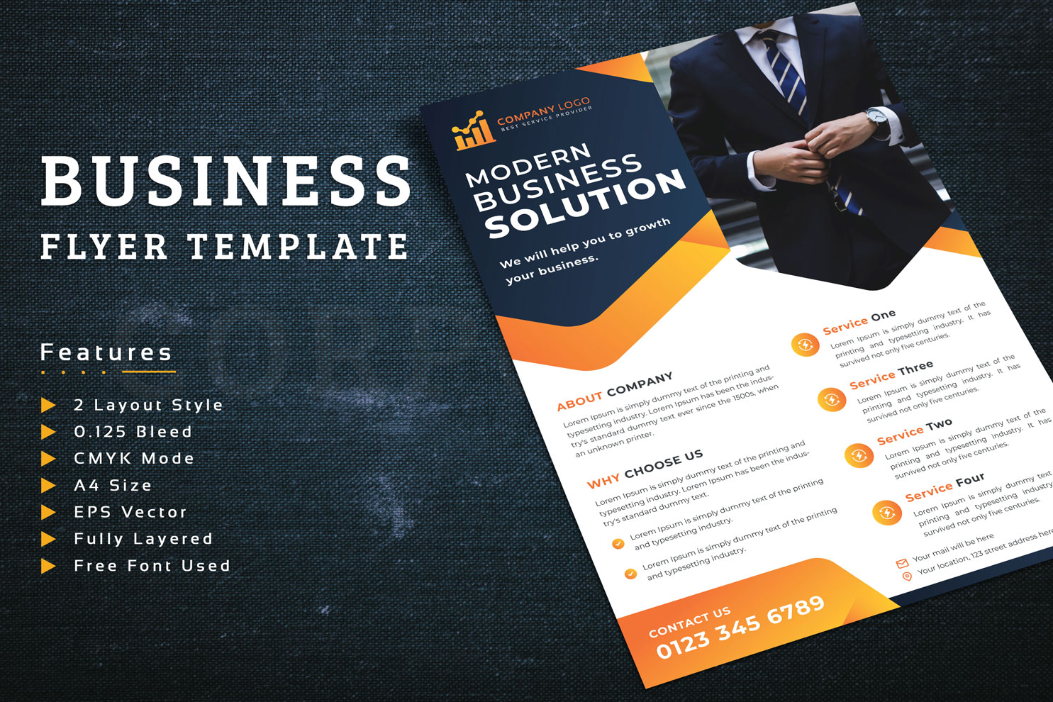 Flyer With Two Layout Style Corporate Identity Template