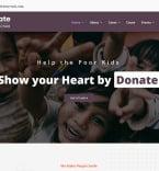 Благотворительность. Шаблон сайта 101008