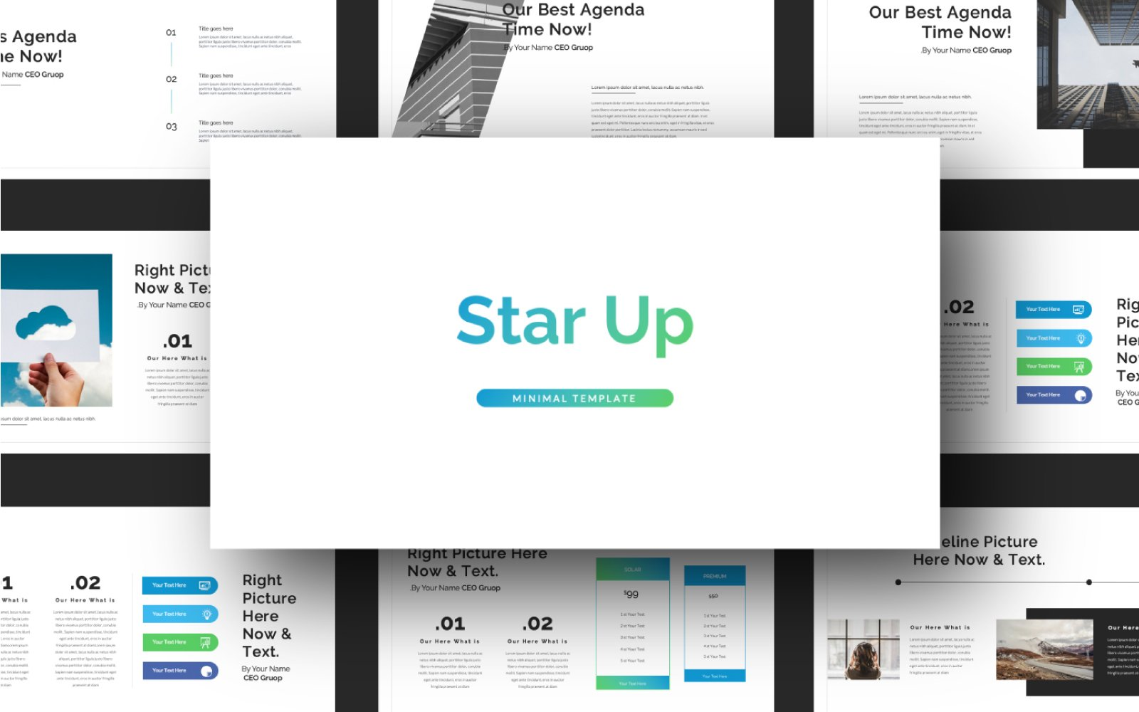 "Modello Google Slides #101033 ""STAR UP Presentation"""
