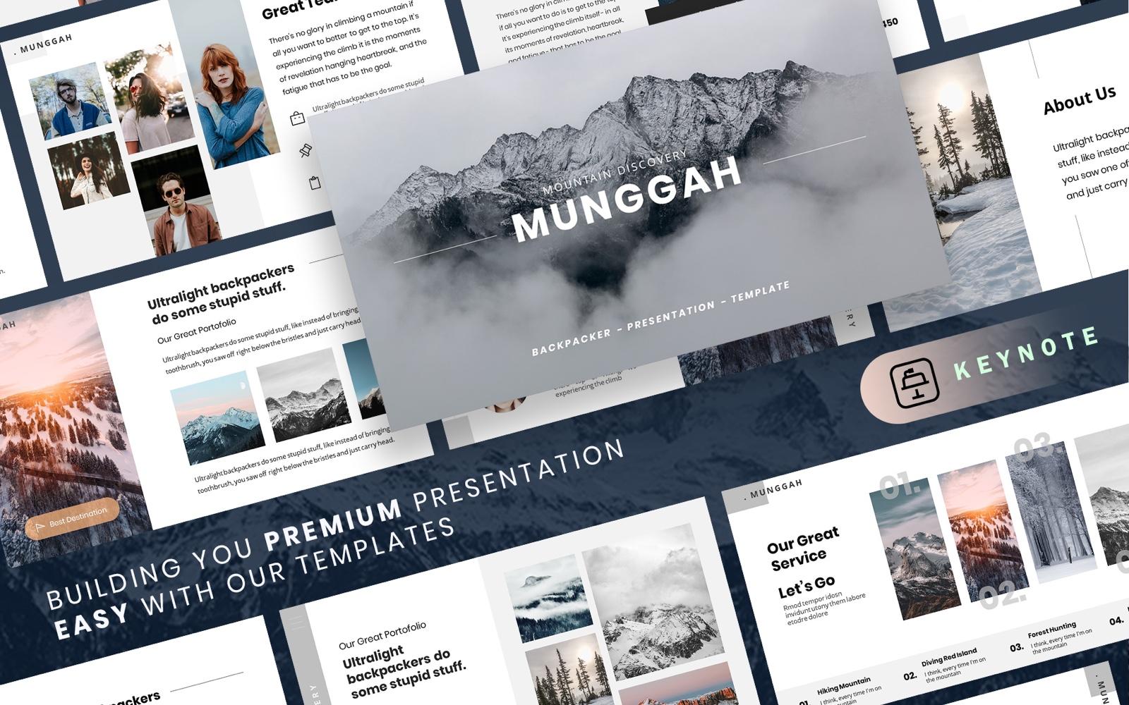 MUNGGAH - Outdoor Adventure Keynote Template