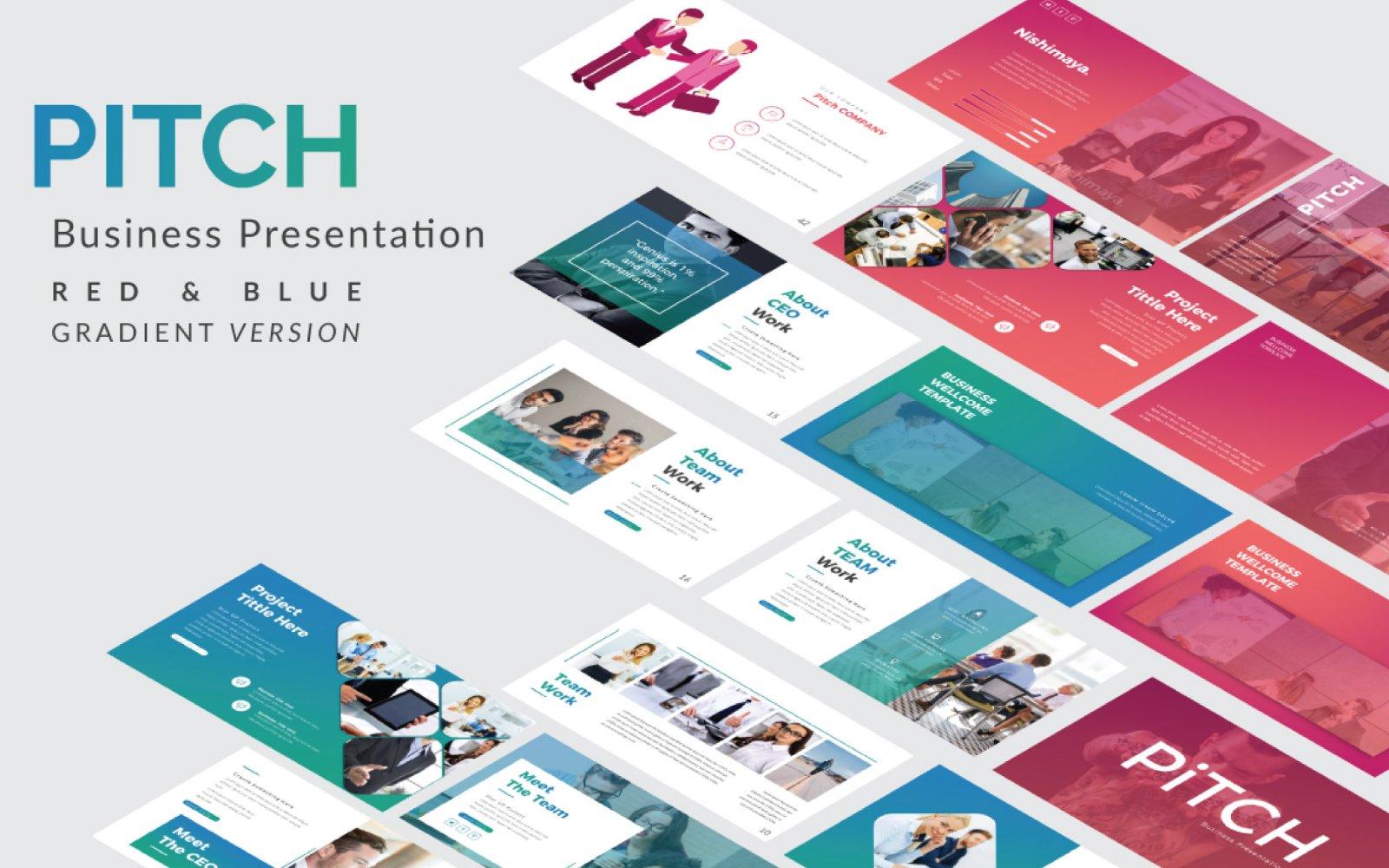 """Pitch Presentation"" google Slides  #101051"