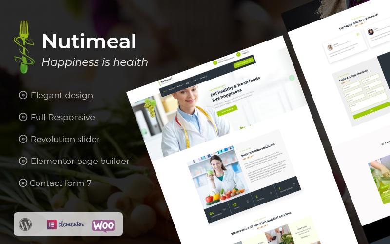 "Responzivní WordPress motiv ""Nutimeal - Nutrition & Diet Elementor"" #101012"