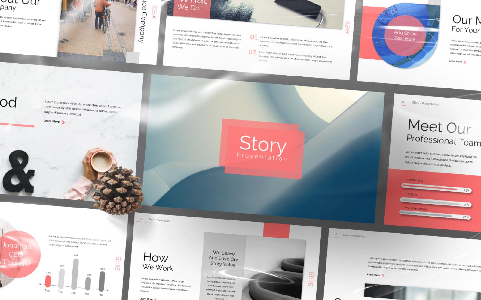 """Šablona pro Keynote """"Story Presentation"""" #101035"""