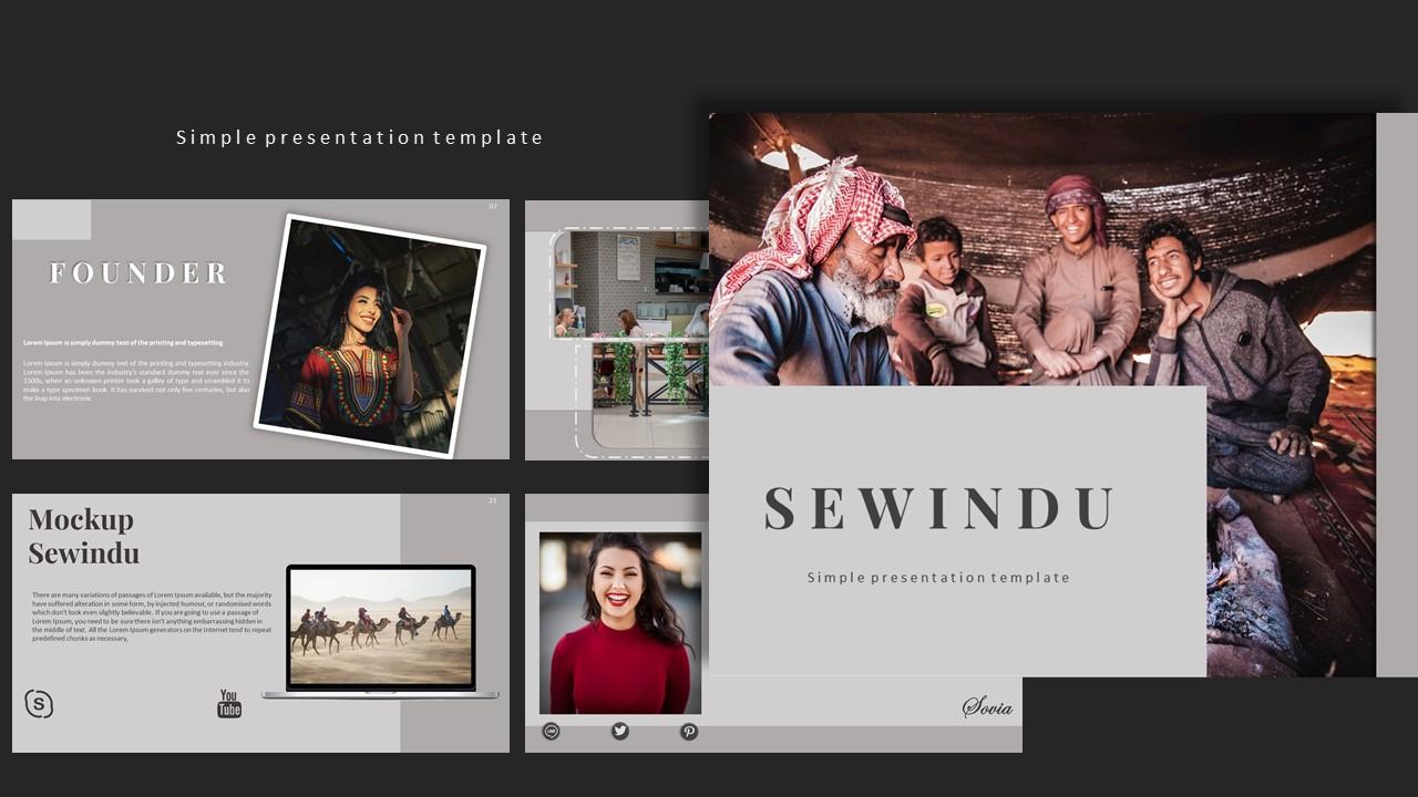 Sewindu Creative Business PowerPoint Template