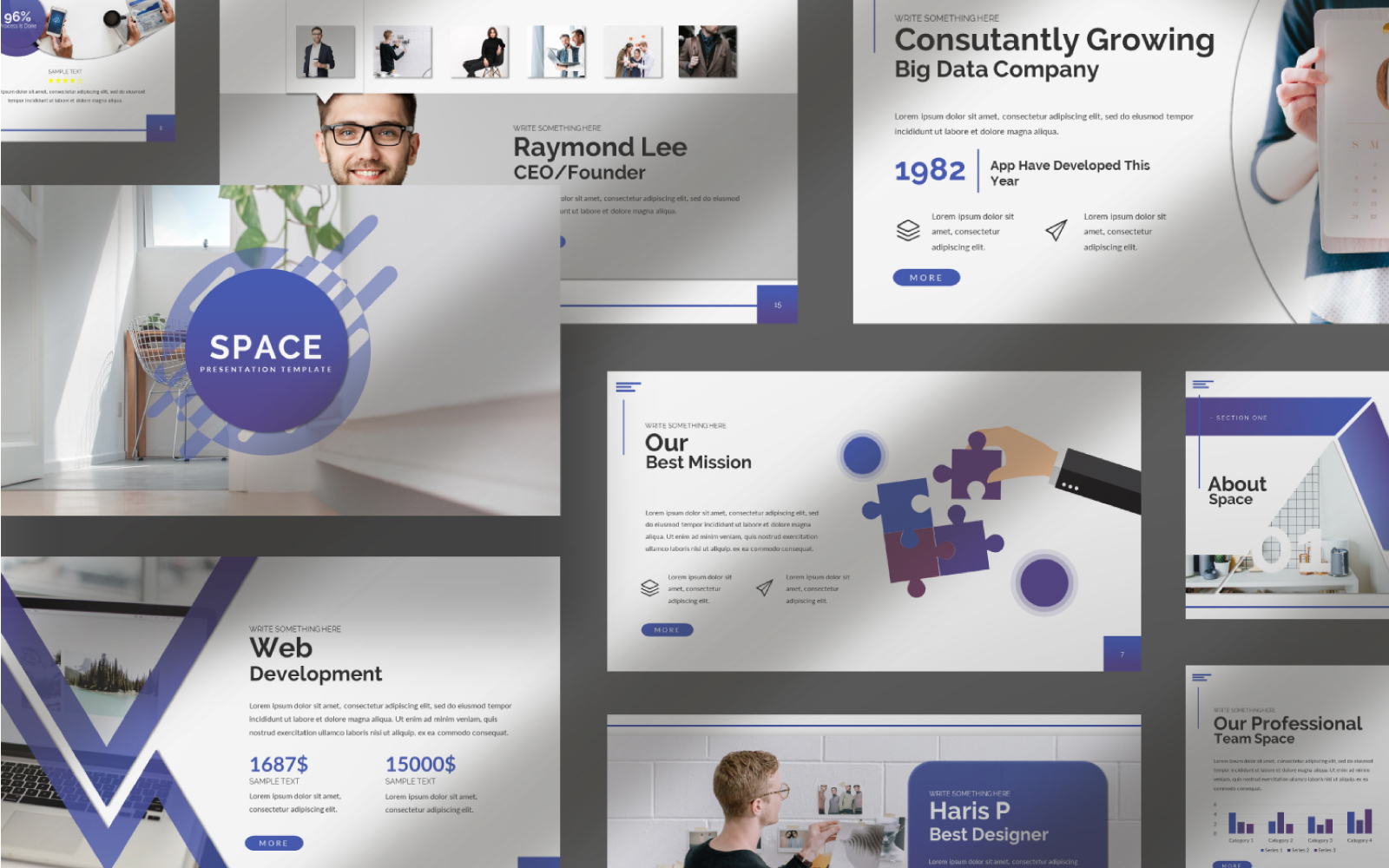 """Space Presentation"" Keynote Template №101037"