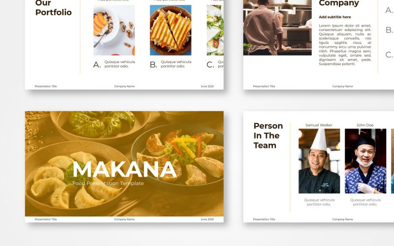 Food Presentation - Makana Google Slides