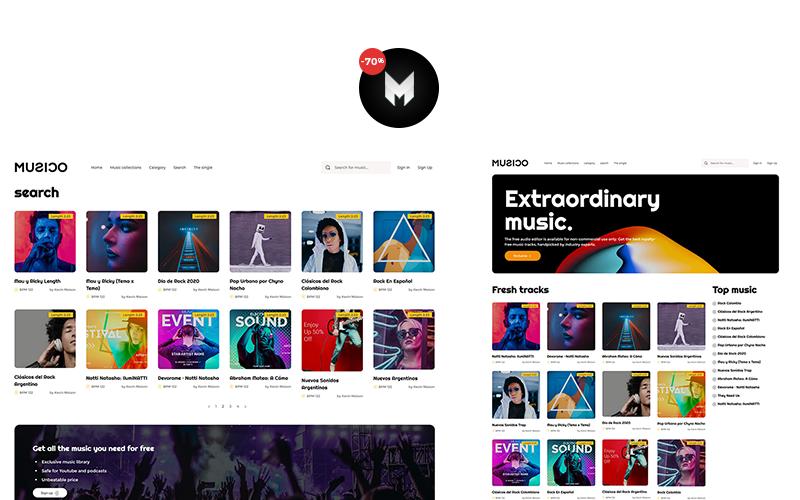 MUSICO - Premium Music Download Website Template