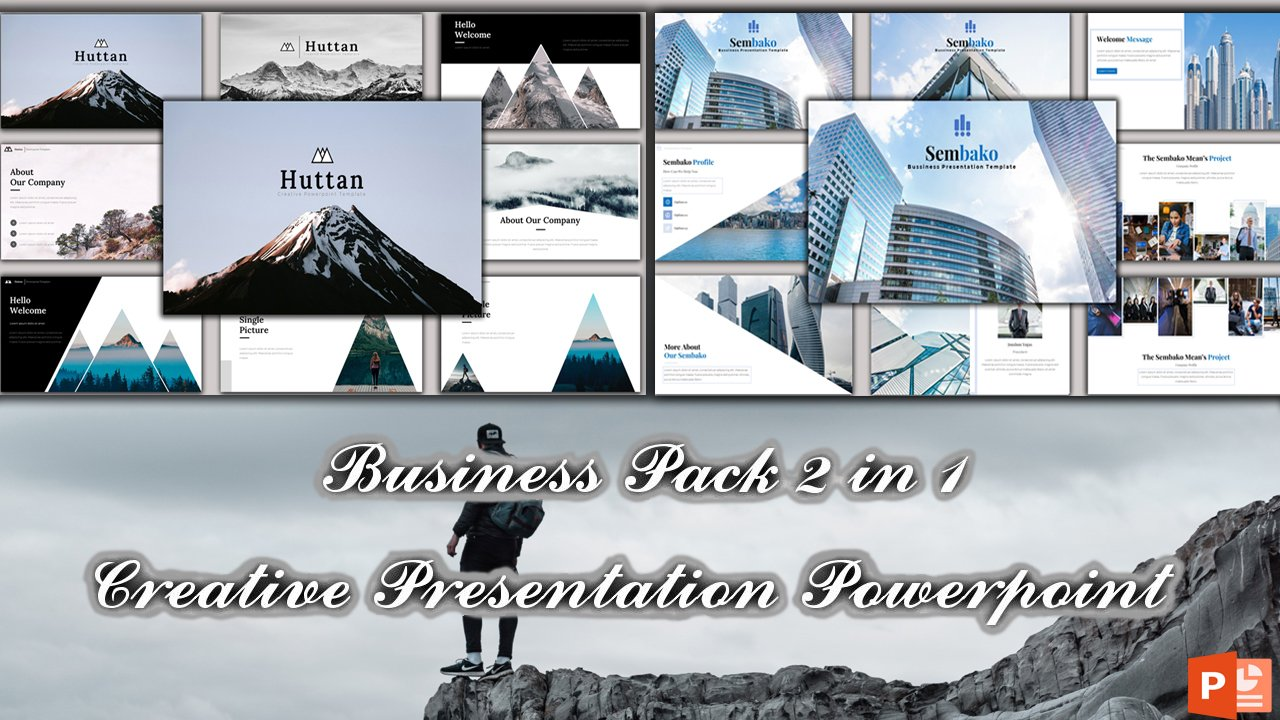 "Plantilla PowerPoint ""Business Pack Bundle  2 in 1"" #101115"