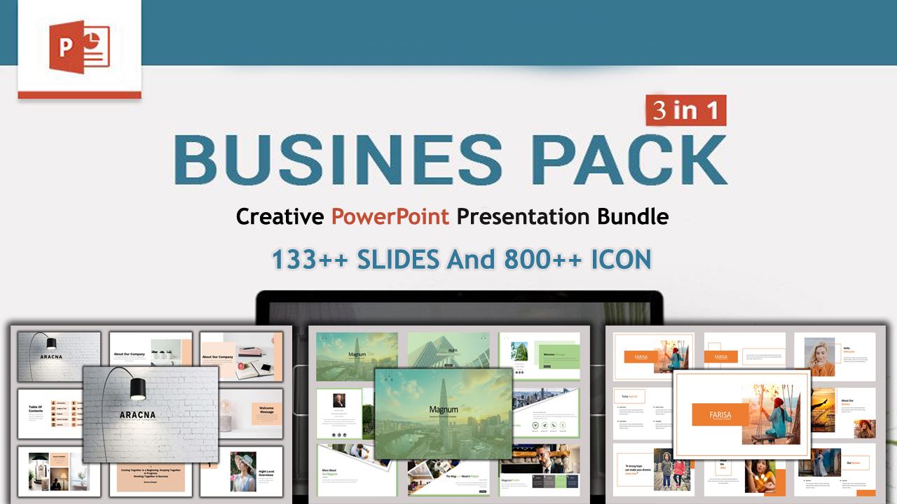 Presentation Bundle Pack 3 in 1 PowerPoint Template