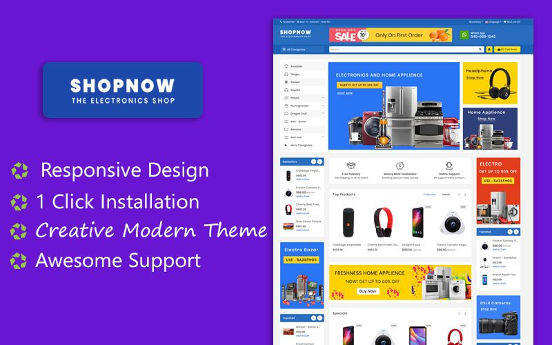 ShopNow Electronics Multipurpose  Responsive Theme OpenCart Template