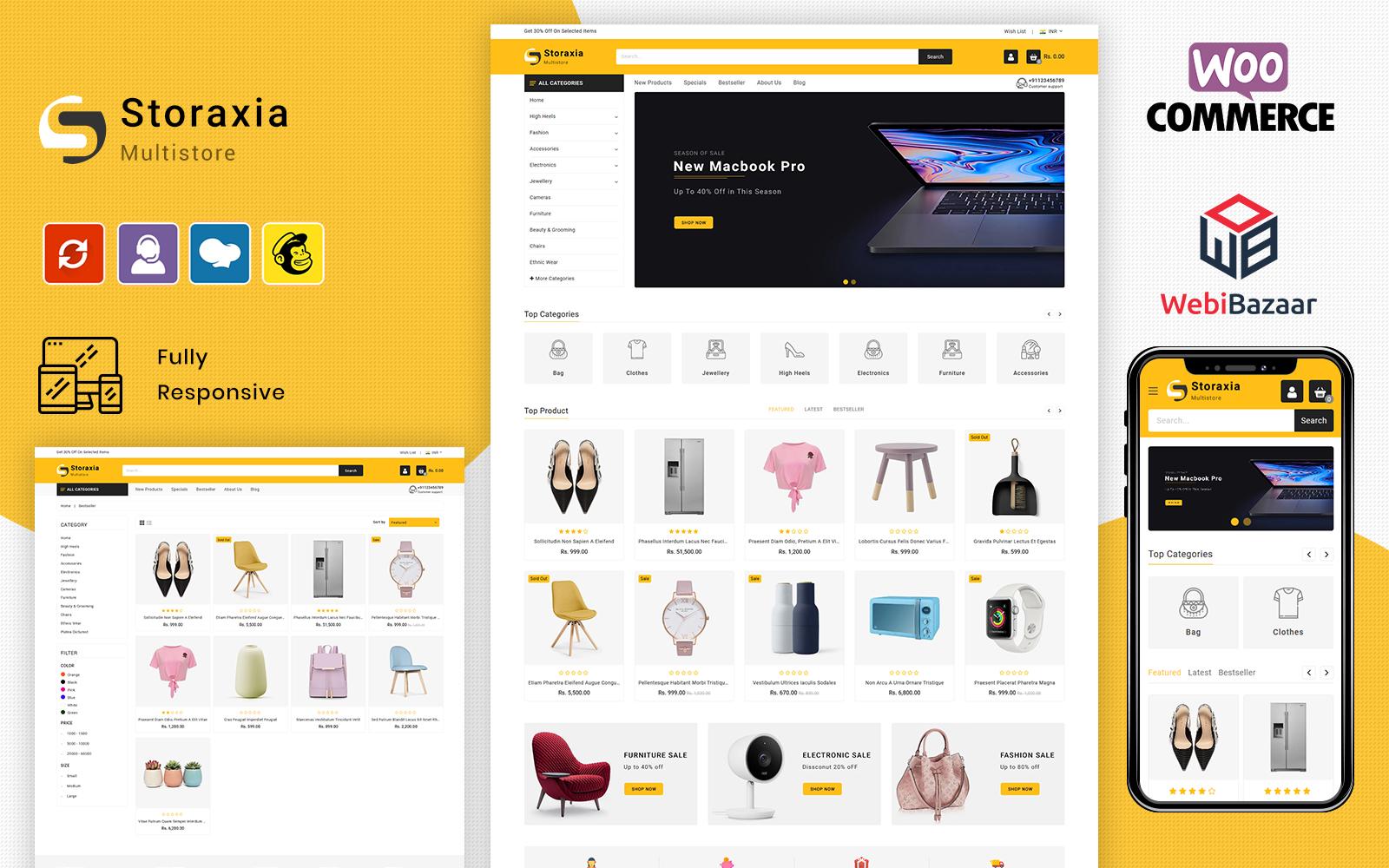 """Storaxia - Multipurpose"" - адаптивний WooCommerce шаблон №101118"