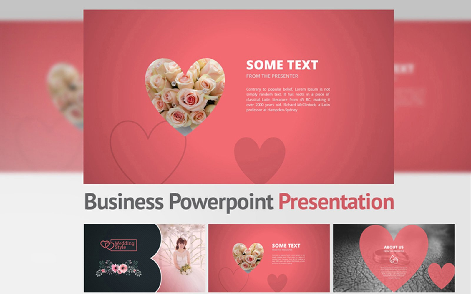 Wedding Style Powerpoint Template 101197